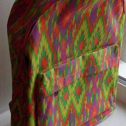 Рюкзаки - Рюкзак разноцветный из полиэстера с ПВХ покрытием. Объем 16л. Новый. , 0