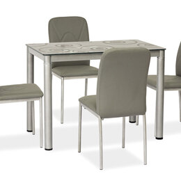 Столы и столики - Стол серый стеклянный 60*80, 0