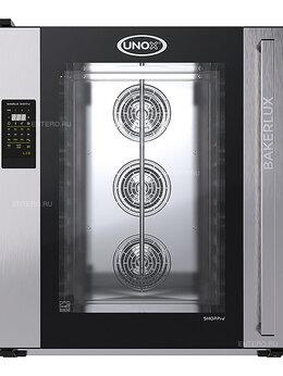 Жарочные и пекарские шкафы - Печь конвекционная UNOX XEFT-10EU-ELLV без…, 0