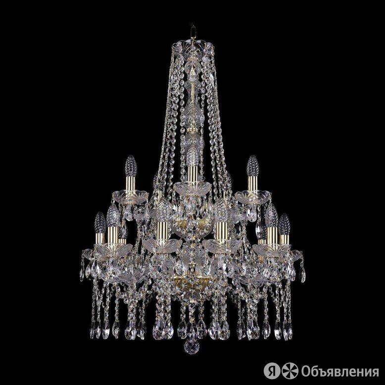 Люстра подвесная хрустальная золото 1413/10+5/200/h-87/2d G по цене 54875₽ - Люстры и потолочные светильники, фото 0