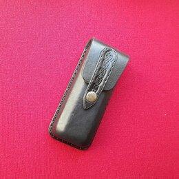 Очки и аксессуары - Очечник футляр для очков на ремень кожаный ручной работы , 0