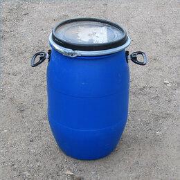 Бочки - Бочка пластиковая 55 литров хомутом, 0