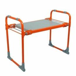 Скамейки - Скамейка садовая с мягким сиденьем - оранжевая, 0