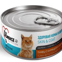 Корма  - Консервы 1st Choice для кошек тунец с курицей и па, 0
