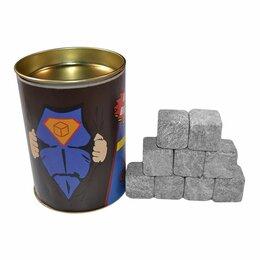 """Аксессуары - Набор камней для виски """"Супергерой"""", 9 шт в тубусе, 0"""