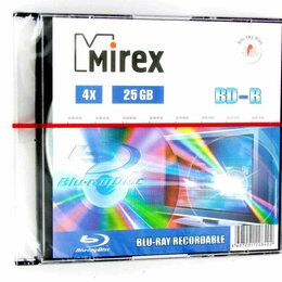 Диски - Диск BD-R Mirex 25 Gb 4x Slim Case (1) (1/50), 0