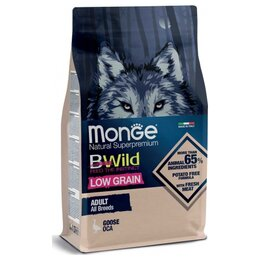 Корма  - Сухой корм Monge BWild Dog Low Grain Goose 2,5 кг, 0