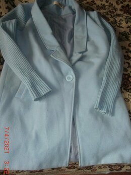 Пальто - Пальто р.40-42 голубого цвета, 0