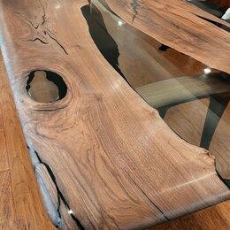 Столы и столики - Стол-река из слэба с эпоксидной смолой обеденный, 0