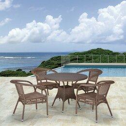 Кресла и стулья - Обеденный комплект плетеной мебели из…, 0