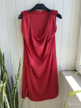 Платья - Яркое, летнее, красное платье 50 размер, 0