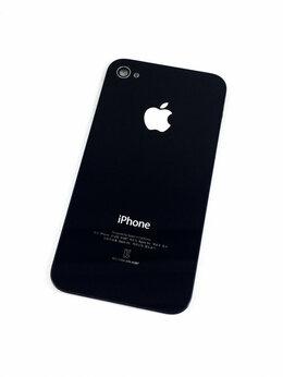 Корпусные детали - Задняя крышка для Apple iPhone 4s черная,оригинал, 0