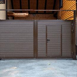 Заборы, ворота и элементы - Ворота со встроенной калиткой , 0
