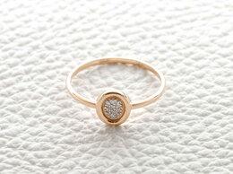 Кольца и перстни - Кольцо с 10 бриллиантами из красного золота, 0