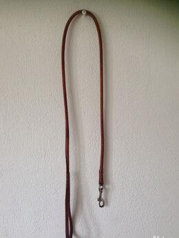 Поводки  - Поводок для собак кожаный коричневый, 0