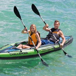 Надувные, разборные и гребные суда - Каяк надувной Байдарка надувная лодка двухместная новая Intex Challenger , 0