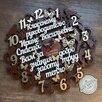 Часы деревянные со словами по цене 2750₽ - Часы настенные, фото 5