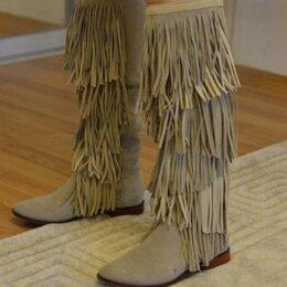 Сапоги - Замшевые сапоги Zara, 36 размер, 0