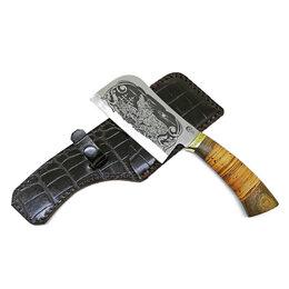 Ножи и мультитулы - Топор-тяпка «Мясной-1» из стали 65х13 с гравировкой, 0