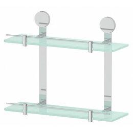 Полки, шкафчики, этажерки - Полка стеклянная двойная Harmonie Artwelle HAR 037, 0
