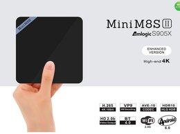ТВ-приставки и медиаплееры - ТВ приставка Mini M8s на Android новый, 0