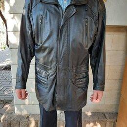 Куртки - Кожаная демисезонная удлинённая куртка, 0
