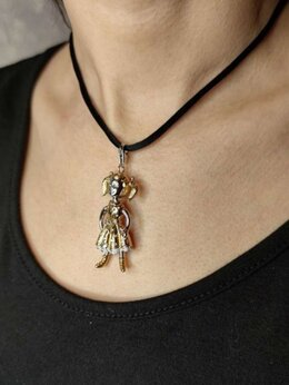 Кулоны и подвески - Золотая подвеска (кулон) с бриллиантами , 0