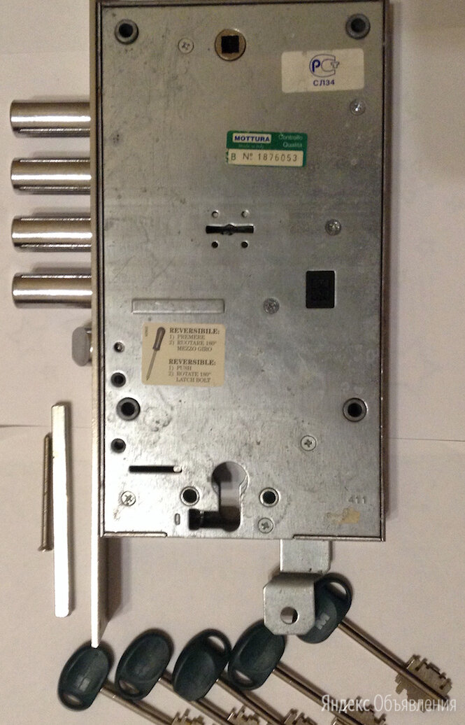 Замок врезной двухсистемный Mottura / левый/+ цилиндровый механизм TESA по цене 7500₽ - Замки, фото 0