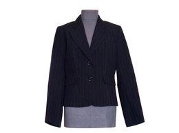 Пиджаки - Пиджак женский черный в узкую полоску, 0