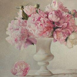 """Картины, постеры, гобелены, панно - Картина маслом """"Нежные розовые пионы"""", 0"""