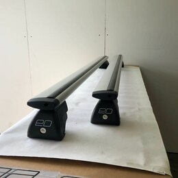 Перевозка багажа - Багажник на рейлинги с просветом крыловидная форма, 0