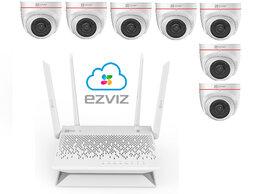 Камеры видеонаблюдения - Комплект на 7камер ezviz С4W +Vault Plus, 0