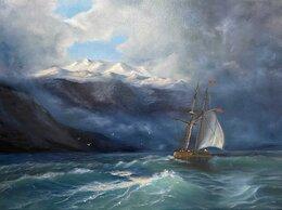 """Картины, постеры, гобелены, панно - картина маслом """"Парусник в море"""", 0"""