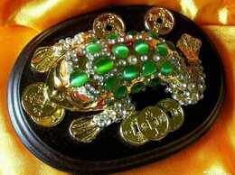 Статуэтки и фигурки - Денежная лягушка - Лунная Жаба Самоцветы, 0