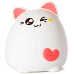 Ночники и декоративные светильники - Ночник силиконовый котик 3 Pink, 0