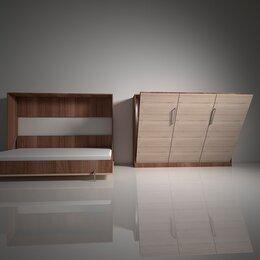 Кровати - Шкаф-кровать с подъемным механизмом трансформер горизонтального подъема вс.4, 0