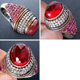 Кольца и перстни - Серебро с гранатом, кольцо., 0