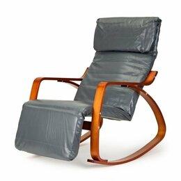 Кресла - Кресло-качалка с подставкой для ног – экокожа, 0