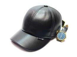 Головные уборы - Бейсболка кепка мужская натуральная кожа , 0