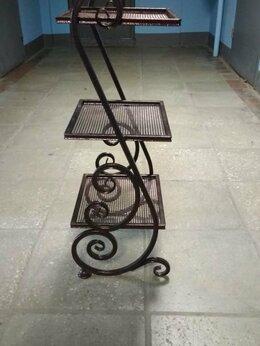 Стеллажи и этажерки - Этажерка кованая металлическая Э-4, 0