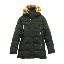 Куртки и пуховики - Зимняя удлиненная куртка для мальчика р-р 152 см, 0