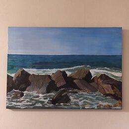 Картины, постеры, гобелены, панно - Картина маслом на холсте море, 0