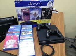 Игровые приставки - Игровая приставка PS4 slim 1Tb 2 джойстика 8 игр, 0