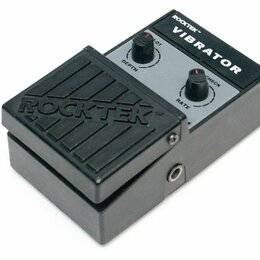Аксессуары и комплектующие - Педаль эффектов для электрогитары Rocktek Vibrator, 0