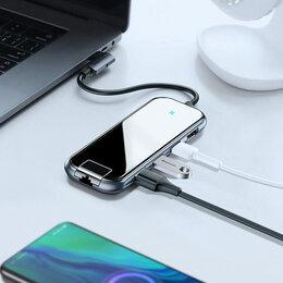 USB-концентраторы - USB-концентратор Baseus  (CAHUB-DZ0G) USB-C на…, 0
