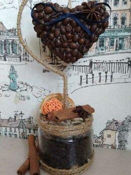 Рукоделие, поделки и товары для них - Топиарий, Сердце из кофейных зёрен, 0