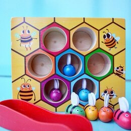 Развивающие игрушки - ИГРА «ПЧЕЛКИ В УЛЬЕ» , 0