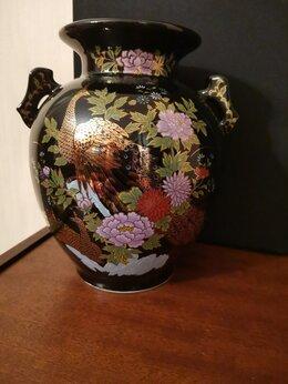Вазы - Японская ваза черный кобальт винтаж, 0