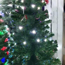 Ёлки искусственные - Светящаяся елка 240 см с белыми светодиодами и оптоволокном, 0