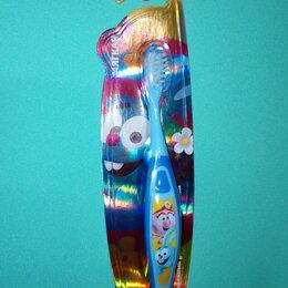 Зубные щетки - Детская зубная щетка Смешарики с рисунком на ручке 3+, 0